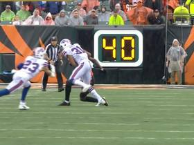 Micah Hyde dives for interception, now leads the NFL with four this season