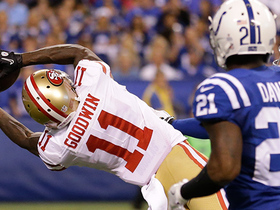 Can't-Miss Play: Marquise Goodwin hauls in a deep 51-yard bomb into the red zone