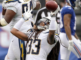 Tre Boston picks off Eli Manning to seal Chargers' first win of 2017