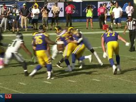 Watch: Frank Clark burns Andrew Whitworth, strip-sacks Jared Goff