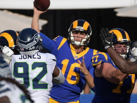 Goff throws dart downfield to Robert Woods to keep key drive alive