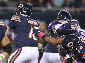 Everson Griffen welcomes Mitchell Trubisky to NFL with big-time strip-sack