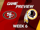 Watch: 49ers vs. Redskins Week 6 game preview