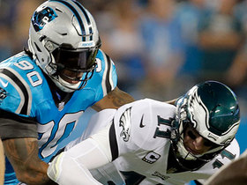 Julius Peppers' 150th sack leads to fumble and Panthers recovery