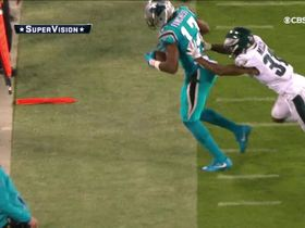 Funchess needs every inch of the field to make this toe-tap grab