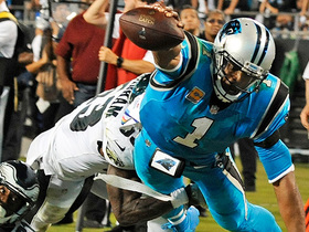 Cam Newton goes full Superman on epic dive for goal line