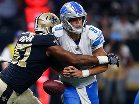 Alex Okafor strip sacks Stafford in end zone, Kenny Vaccaro recovers for TD