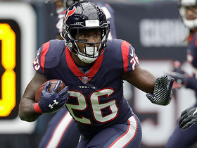 Lamar Miller breaks to the outside for first-down gain