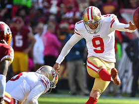 Robbie Gould misses 47-yard field goal wide right