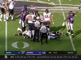 Watch: C.J. Mosley pounces on Mitchell Trubisky's fumble