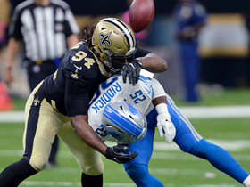 Cameron Jordan puts pressure on Stafford for red-zone sack
