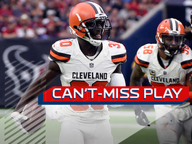 Can't-Miss Play: Myles Garrett's pressure leads to Jason McCourty's pick-six