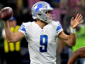Watch: Matthew Stafford buys time, finds T.J. Jones for 24 yards