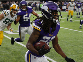 Watch: Waynes intercepts sailing Hundley pass after hit by Brian Robison