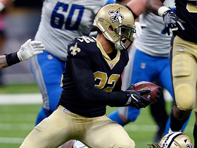 Cameron Jordan uses soccer-like header to cause interception