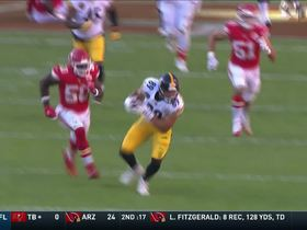 Vance McDonald gets behind Justin Houston for 26-yard catch