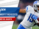 Watch: Golden Tate highlights | Week 6