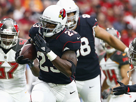 Adrian Peterson's first carry as a Cardinal