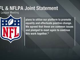 Watch: NFL and NFLPA release joint statement on promoting social change