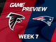 Watch: Falcons vs. Patriots Week 7 game preview