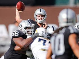 Watch: Warner: Raiders offense is forcing Carr to make big plays