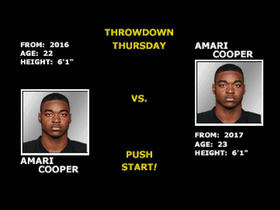 Watch: GMFB's Thursday Throwdown: 2016 Amari Cooper vs. 2017 Amari Cooper
