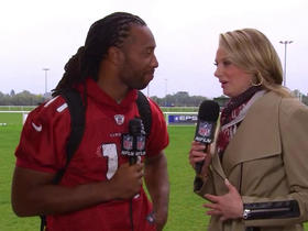 Watch: Larry Fitzgerald: Adrian Peterson brings a youthful exuberance to the Cardinals
