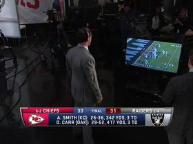 Watch: David Carr fired up watching brother Derek Carr's game winner in studio