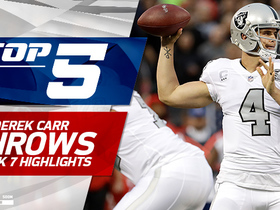 Watch: Derek Carr Top 5 Throws | Week 7