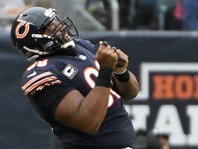 Watch: Akiem Hicks closes pocket, sacks Newton
