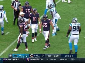 Watch: Captain Munnerlyn comes off the edge to sack Mitchell Trubisky