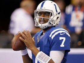Watch: Jacoby Brissett throws a bullet downfield right into Chester Rogers' hands