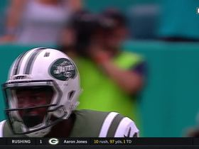 Bilal Powell powers down the sideline for 25 yards