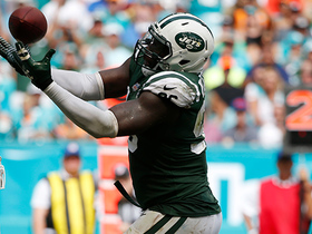 Muhammad Wilkerson picks off Cutler on Dolphins' own 1-yard line