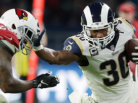 Watch: Gurley shows off wicked stiff arm on 35-yard pass