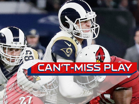 Watch: Can't-Miss Play: Goff powers through for longest career rush TD