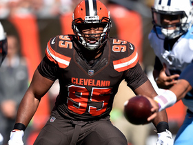 Watch: Myles Garrett stuffs Titans' attempt at a shovel pass
