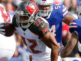 Doug Martin stumbles his way to a huge first down