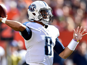 Watch: Marcus Mariota slings pass over the middle, finds Taywan Taylor for 23 yards