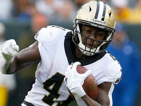 Watch: Alvin Kamara explodes through the middle for his longest run of game