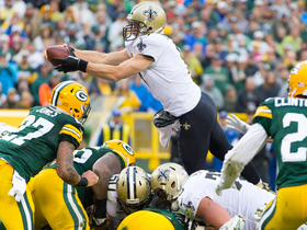 Watch: Air Drew! Drew Brees leaps up over line for tough goal-line TD