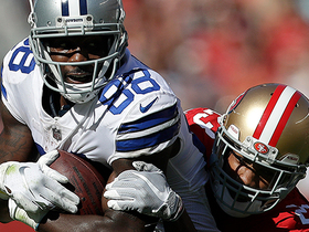 Dez Bryant starts his day with 9-yard catch in tight coverage