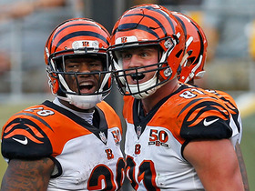 Andy Dalton finds an open Tyler Kroft for a TD in back of end zone