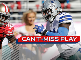 Watch: Can't-Miss Play: Ezekiel Elliott dances down sideline for 72-yard TD
