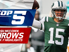 Watch: Josh McCown top five throws | Week 7