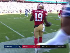 Aldrick Robinson shows off his wheels on 15-yard catch