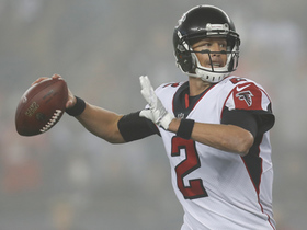 Matt Ryan hits Justin Hardy perfectly in stride for 22-yard gain