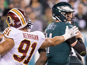 Watch: Ryan Kerigan ambushes Carson Wentz for sack