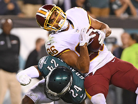 Jordan Reed skips up for 20-yard gain