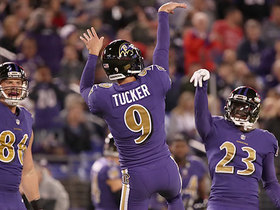 Justin Tucker makes 55-yard field goal with ease